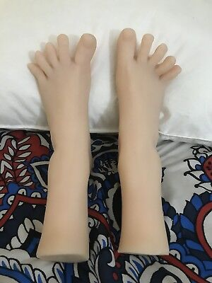 New Girls Womens Dancer Feet Silicone Mannequin Foot Model Bone In Toe Sz 8