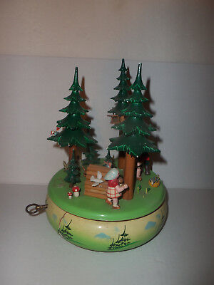 Vintage Steinbach Germany Wooden Christmas Music Box for Parts / Restoration
