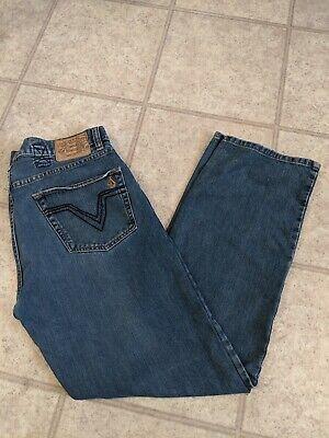 Volcom Black Zip Jeans Men's 34x 31 Volcom Black Jeans