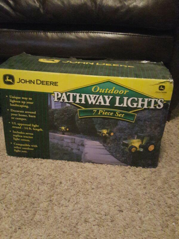 John Deere Pathway Sidewalk Farm Tractor 7 Piece Light Set OPEN BOX