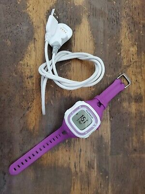 Garmin Forerunner 15 GPS Womens Running Activity Watch Purple White with Charger