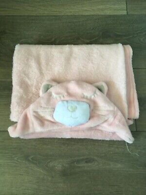 Baby Hooded Blanket Pink for sale  Shipping to South Africa