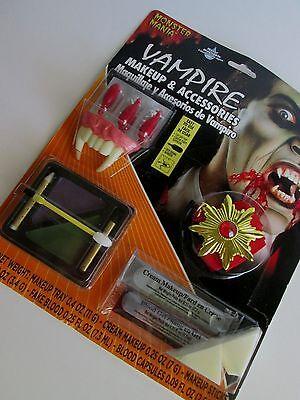 VAMPIRE Costume ACCESSORIES & MAKEUP Fangs Medallion DRACULA Blood Capsules - Vampire Accessories