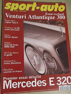 SPORT AUTO: n°401: 06/95: AUDI A4 TURBO - BMW 320i - JAGUAR TYPE E - VENTURI 300