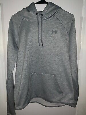 Women's Under Armour ColdGear Silver/Gray Pullover Hoodie Sweater Size Medium
