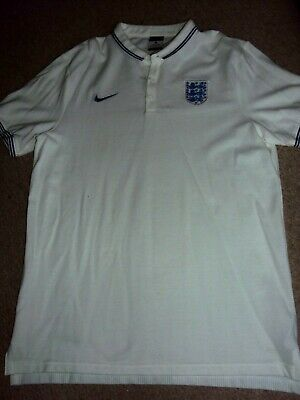 england nike polo shirt large