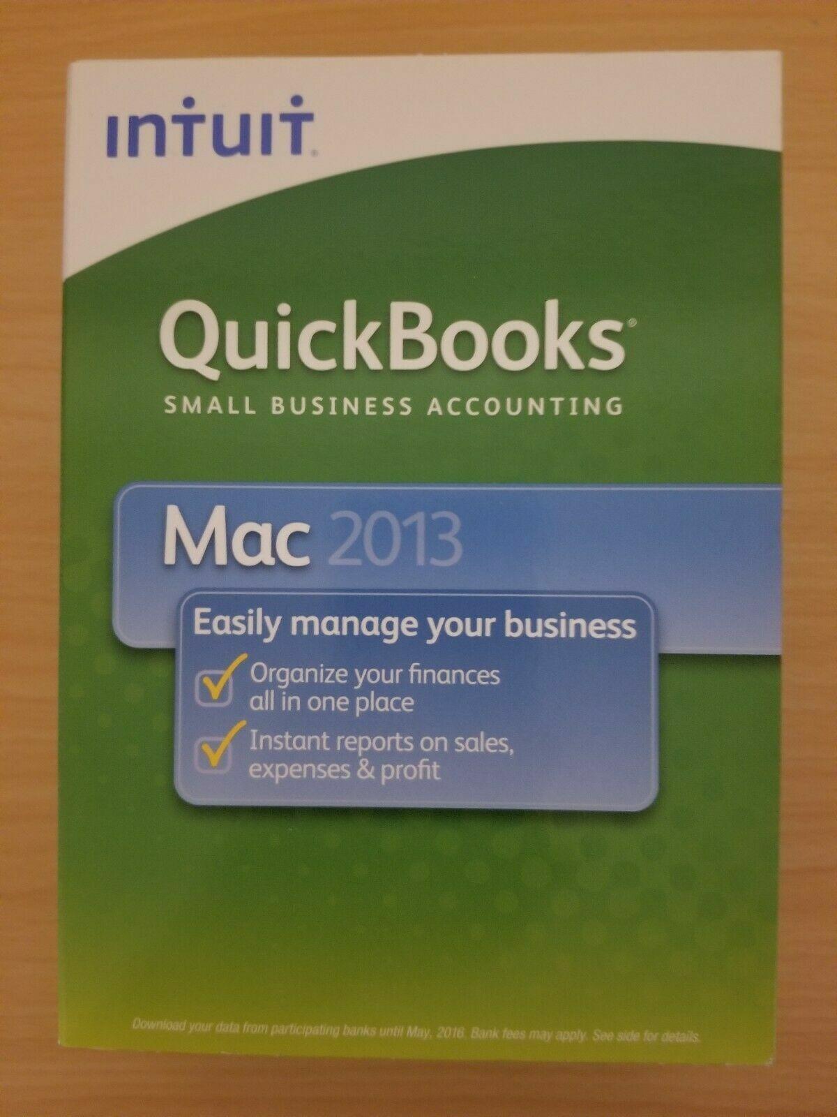INTUIT QUICKBOOKS MAC 2013 FULL RETAIL USA VERSION =BRAND NEW BOX=
