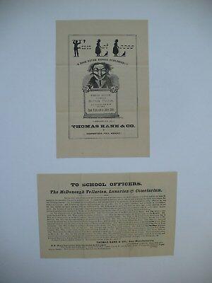 Advertisement For Kane   Co  And Mcdonough Lunar Tellurian Cometarium