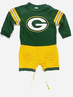 Green Bay Packers NFL 12 Month Romper One Piece Costume Outfit With Pads  - Green Bay Packer Costume