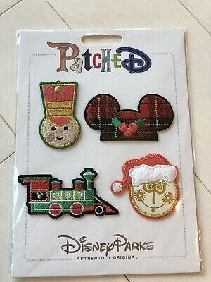 Disney PATCHED Christmas 2019 Small World Train Mickey Mouse Adhesive Patch Set