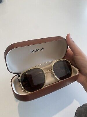 Illesteva Mykonos Ace E Sunglasses Light Yellow / Gold / Grey Flat