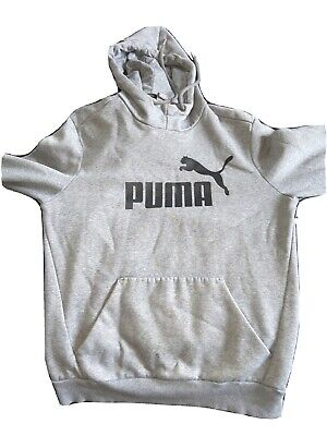 Men's Puma Hoodie Grey - Small