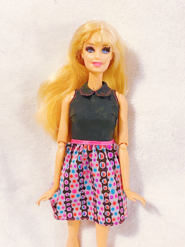 Mattel Barbie Style Doll Life Fashionistas Blonde Doll Rooted Eyelashes Rare