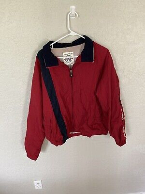 90's VTG NAUTICA COMPETITION Windbreaker Zip Up Jacket Spellout Large Bc