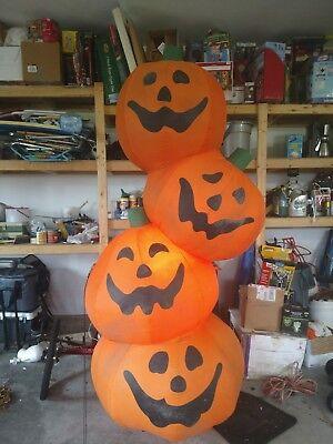GEMMY 8' HALLOWEEN FALL PUMPKIN STACK AIRBLOWN INFLATABLE BLOW UP YARD DECOR - Halloween Blow Ups
