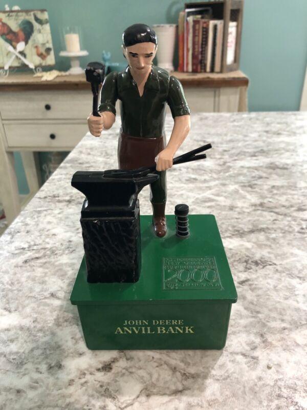 John Deere Mechanical Anvil Coin Bank