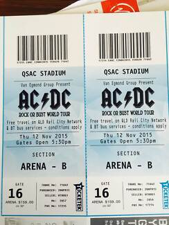 2 x ACDC Arena B tickets Brisbane 12 November 2015 Brisbane Region Preview