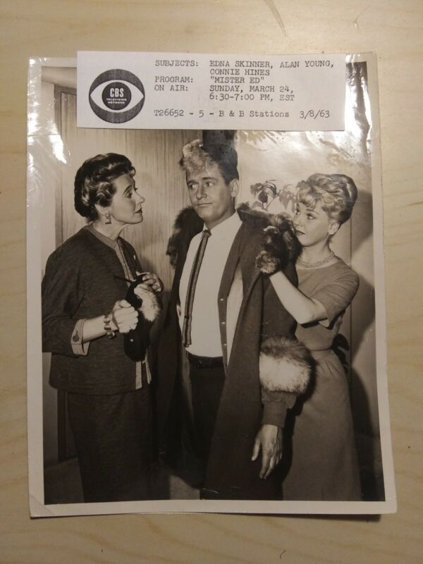 CBS TV Promo photo 1960s MR. ED Alan Young Connie Hines Promotional Original