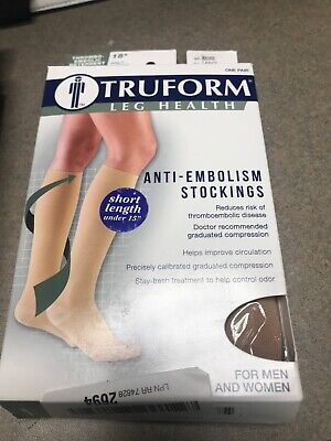 Truform Leg Health Anti-Embolism Stockings LARGE BEIGE OpenToe For Men And Women Truform Anti Embolism Stocking