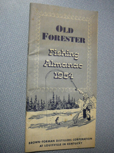 Vintage 1954 Old Forester Fishing Almanac 30 Page Booklet