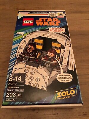 SEALED Lego SDCC 2018 Exclusive Star Wars Millennium Falcon 75512 #834 of #3000