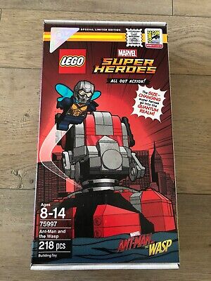 NEW SEALED Lego SDCC 2018 Exclusive Antman and the Wasp 75997 #410 of 1500