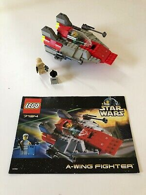 Lego Star Wars A-Wing Fighter set 7134 complete w/ manual & minifigures