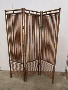 D13050 Bamboo Cane 3 Fold Screen Room Divider Unley Unley Area Preview
