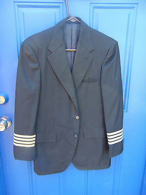 USA Air Force Piloten Schwarze Jacke Grau Streifen Kostüm Reguläre Größe (Air Force Pilot Kostüm)