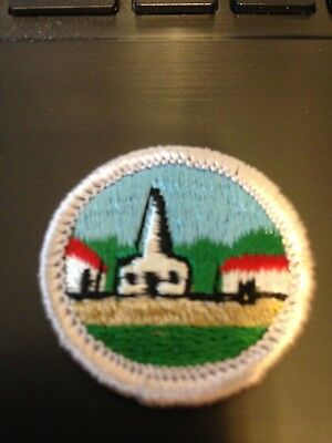 Boy Scout CITIZENSHIP IN THE COMMUNITY Merit Badge Type H (1972-02) Blue (Boy Scout Merit Badge Citizenship In The Community)