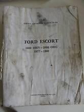FORD ESCORT 1600LTR - 2000LTR 1977 - 1980 WORKSHOP MANUAL Alberton Port Adelaide Area Preview