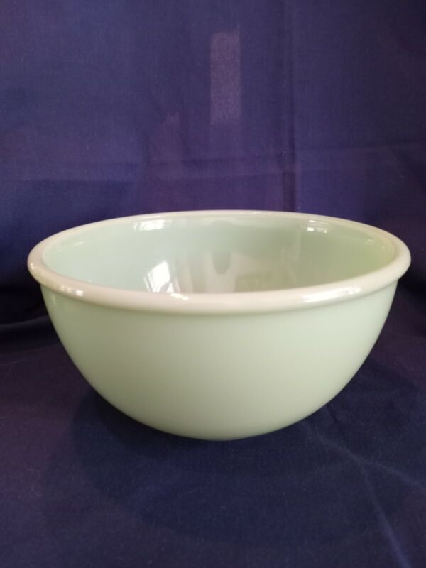 FIRE-KING JADITE Rolled Rim Mixing Bowl 8""