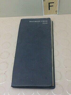 Vintage Hazel Business Card File Holder Binder Folder Organizer