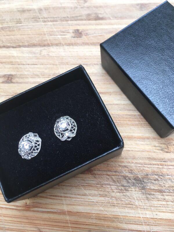 "Filigree ""antique""  Zirconia Earrings"