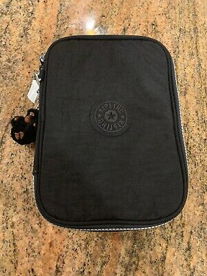 NWOT Kipling 100 Pens Pencil Case Black One Size