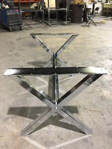 Heavy duty steel table base for live edge wood!