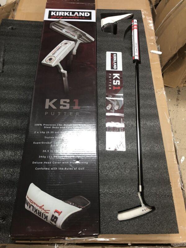 Used Once Kirkland Signature Golf KS1 CNC Milled Putter Super Stroke