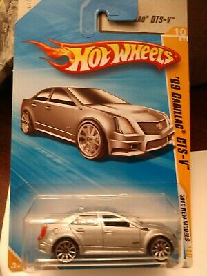 2010 Hot Wheels New Models * '09 Cadillac CTS-V * Silver * NIP 1:64 Scale