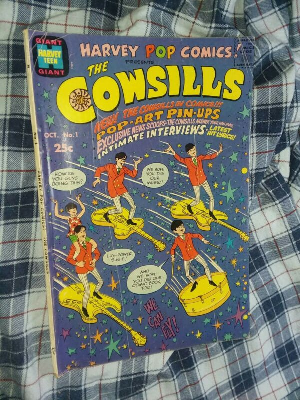 Harvey Pop Comics (The Cowsills) #1 silver age 1968 Teen humor music group rare