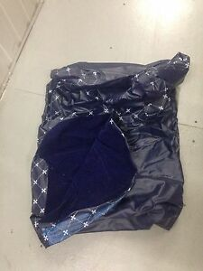 BLOWUP MATTRESS BED - good condition PVC & Velour Burwood Burwood Area Preview