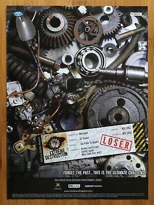 Robot Wars Extreme Destruction Xbox 2002 Vintage Print Ad/Poster Original UK Art
