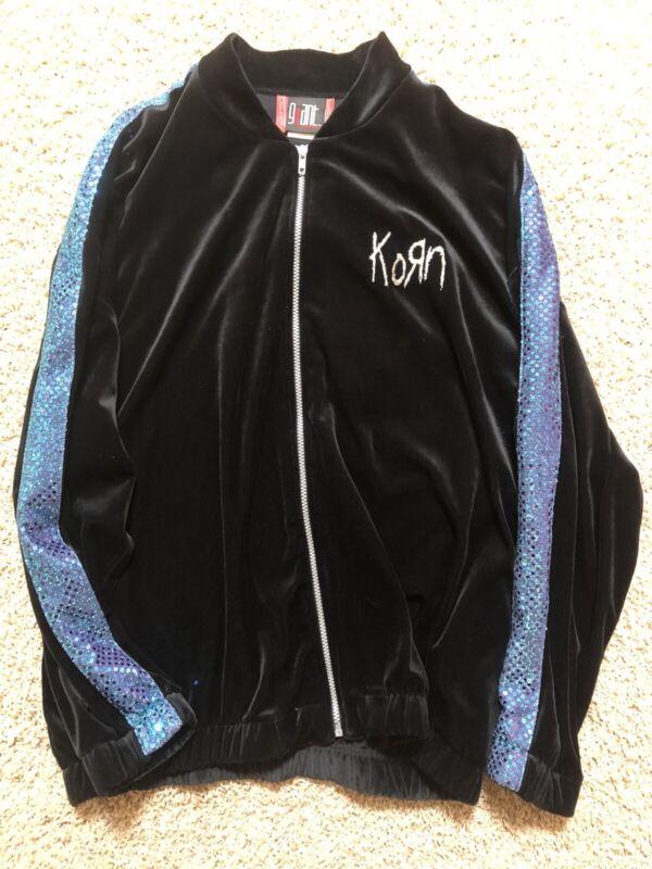 KORN Velvet Sequins Track Jacket Used Giant Large L Hot Topic 90's
