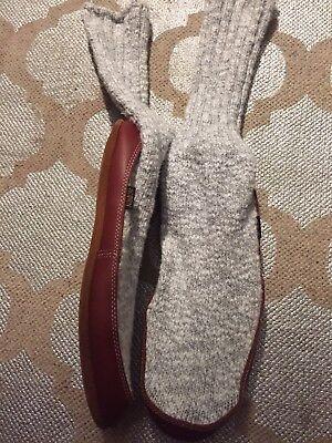 Acorns Slippers Socks Heather Gray W 10.5 11 .5 M  9 10