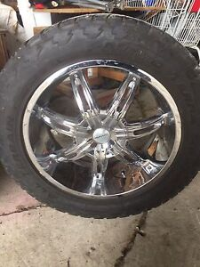 "Dodge Ram 22"" rims and tires"