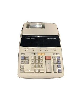 Sharp EL-2192RII Accounting Calculator 12 Digits 2 Color Printing TESTED Works