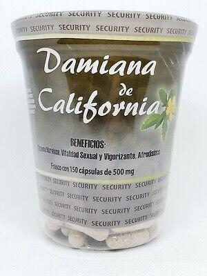 Damiana de California 150 Capsules of 500 mg Exp 01/2023 Capsulas
