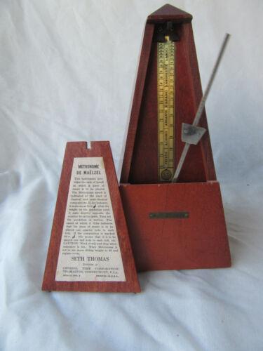 Seth Thomas Metronome de maelzel Wood