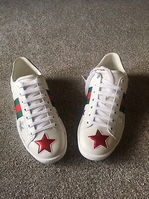 Gucci Ace Star ⭐️ Trainers Genuine Size 37/Uk 4 but bigger fits a 5 comfortably.