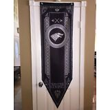 """Game of Thrones XL Tournament Banner Flag (House Stark) 5'-2"""" SHIPS IN ONE DAY!"""