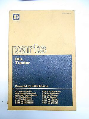 Caterpillar D8l Tractor Part Catalog Manual Dozer Ripper Winch